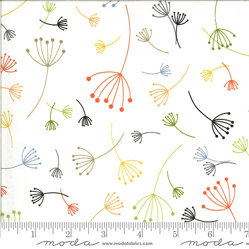Quotations by Zen Chic for Moda Fabrics - 1732-12 seed head on white modern patchwork low volume