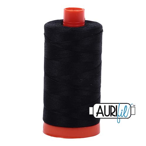 Aurifil  50wt Thread 1300m - Black 2692