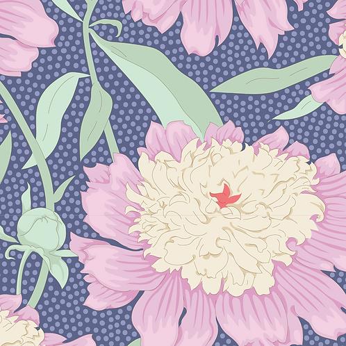 Tilda Garden Life - Peony Blue 320 patchwork quilting