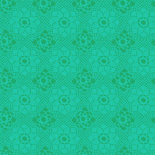 Alison Glass Sunprints Crochet Green fabric
