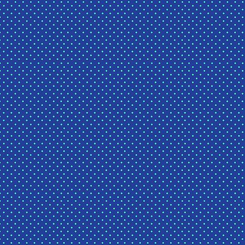 Makower Spot On Fabric - Turquoise on Blue