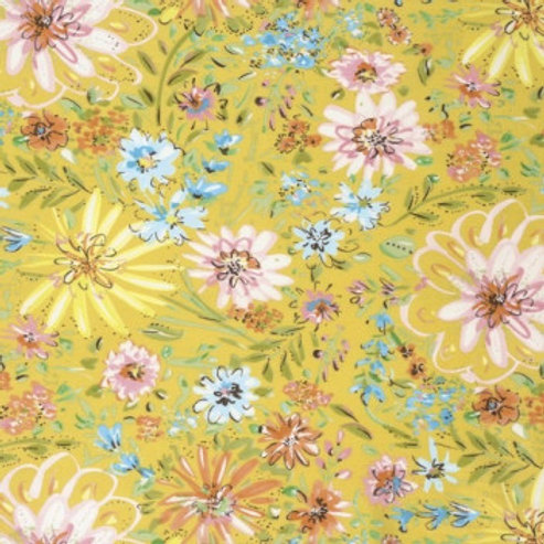 Watercolor Floral - yellow