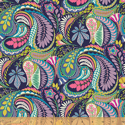Solstice by Sally Kelly for Windham fabric - Paisley fabric