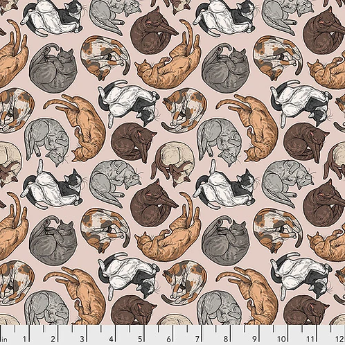 Rachel Hauer for Free Spirit - Cat Nap Natural Fabric