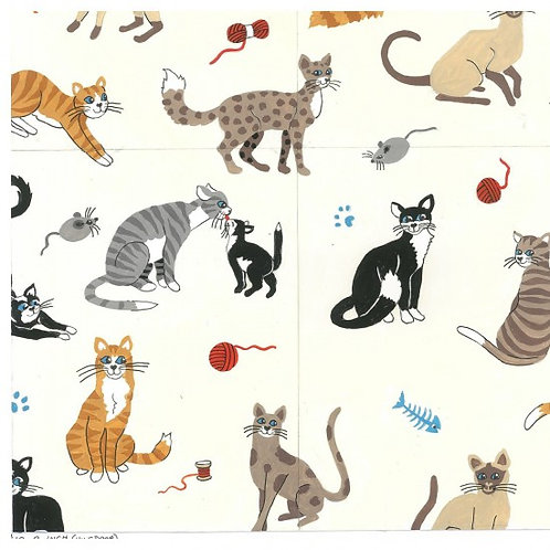 Nutex Fabrics - Nine Lives - Cats