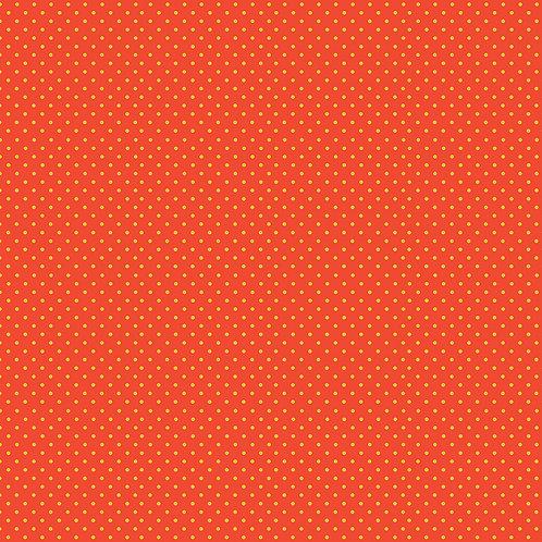 Makower Spot On Fabric -Yellow Spot on Orange