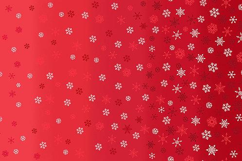 Scandi by Makower UK Fabrics - Ombre Snowflake red