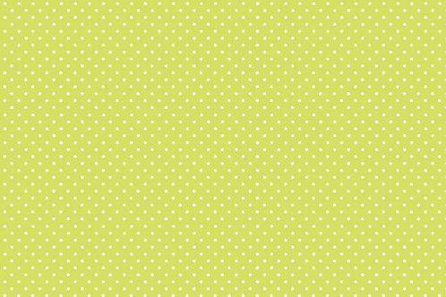 Makower Spot On Fabric - Kiwi