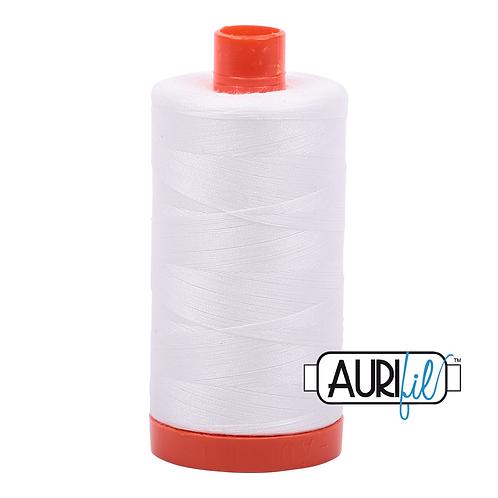 Aurifil  50wt Thread 1300m - Natural White
