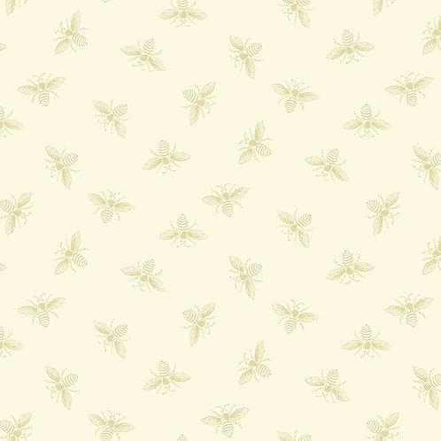 Renee Nanneman Andover Fabric French Chateau  and Bees - Alabaster