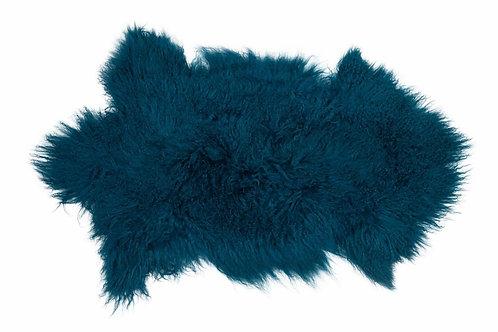 Peau agneau du Tibet bleu