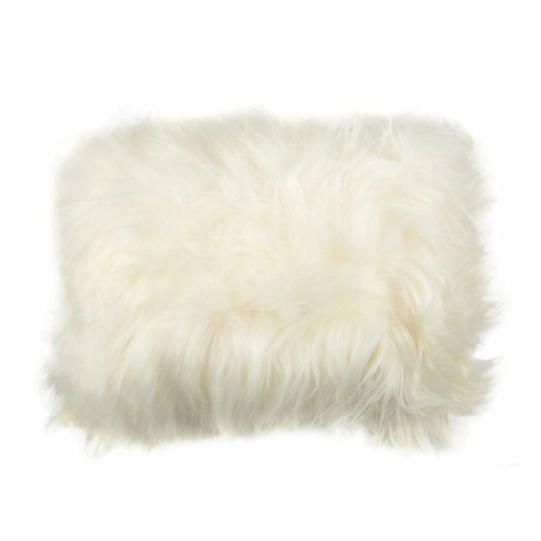 Coussin mouton rectangle blanc