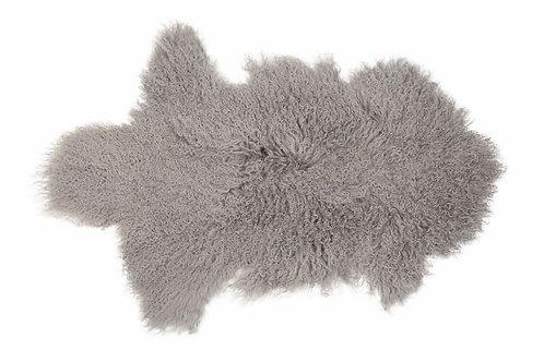 Peau agneau du tibet gris