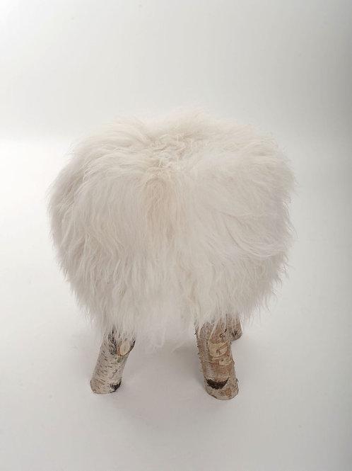 Tabouret mouton blanc