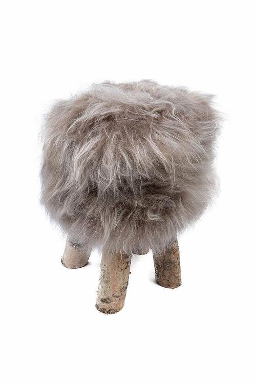 Tabouret mouton gris