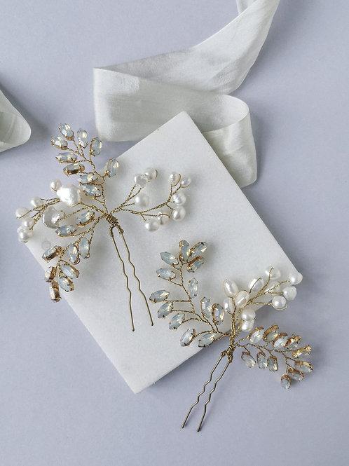 AURELIE | Opal Pearl French Pins