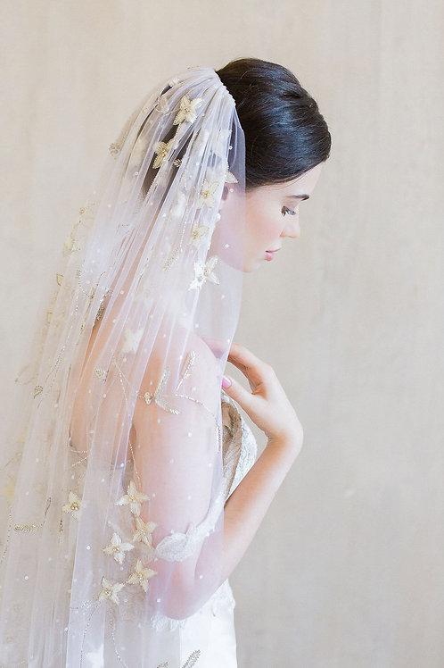 DES FLEURS | Silk Floral Veil