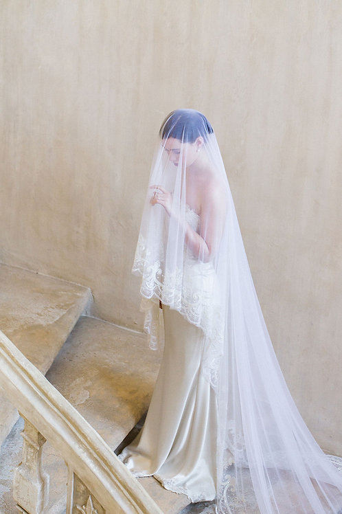 VALENTIN | Beaded Drop Veil