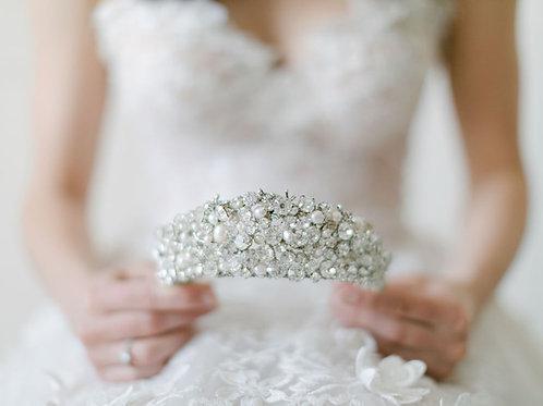 PERLA | Crystal Pearl Crown