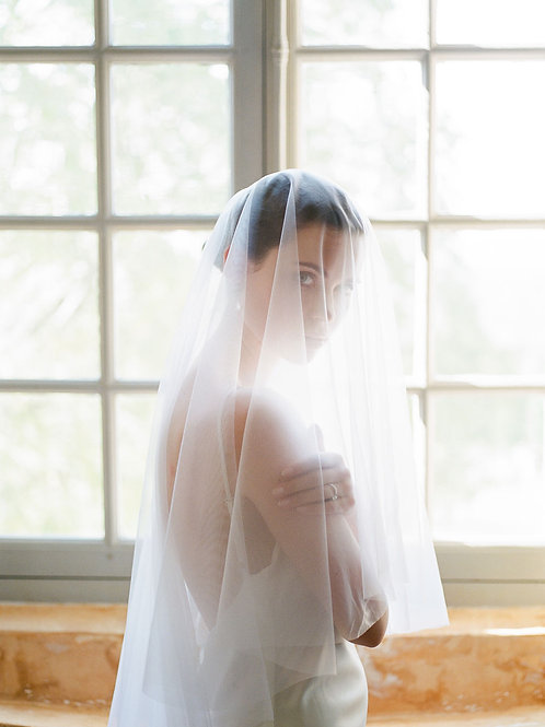 JOIE | Crystal Embellished Drop Veil