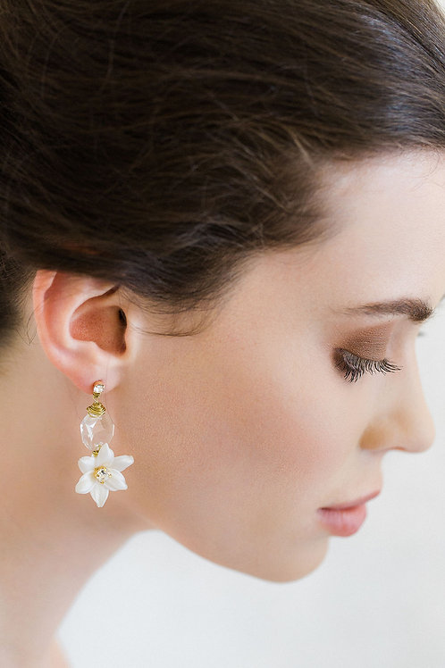 INES | Crystal Floral Earring