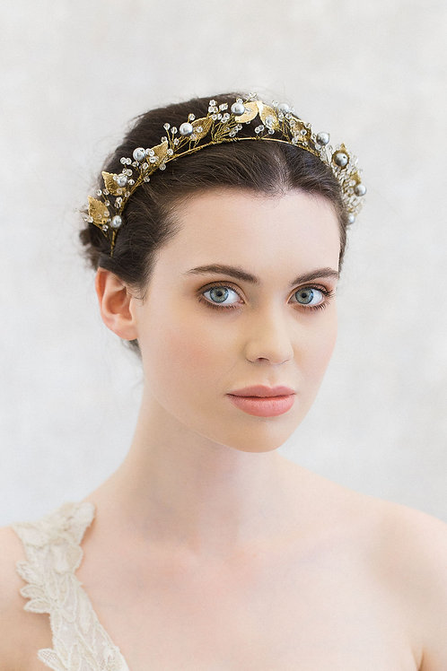 GISELLE | Golden Botanical Headband