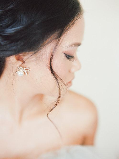 HOPE   Crystal Bow Earrings