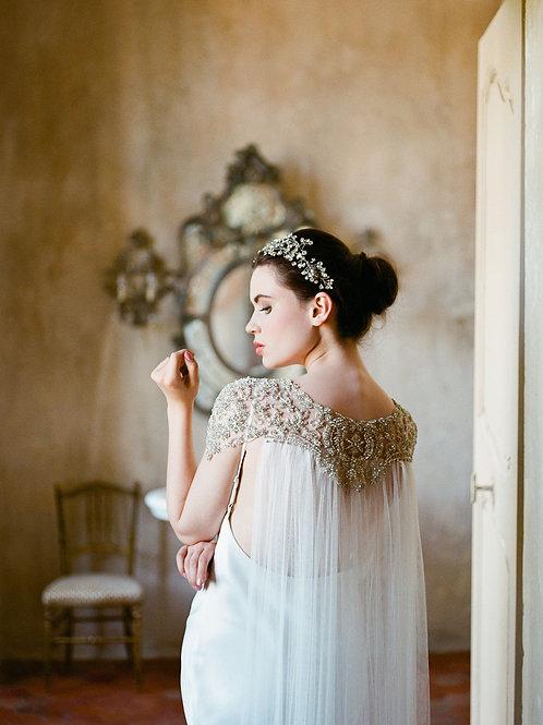 DAMARIS | Crystal Silk Bridal Cape