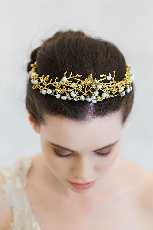 L'AMOUR | Golden Wisteria Crown