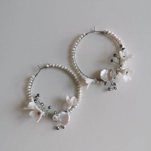 ASTILBE | Floral Circlet Bridal Earrings