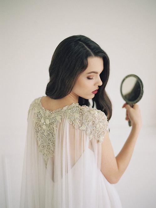 LAKSHMI | Couture silk pearl cape