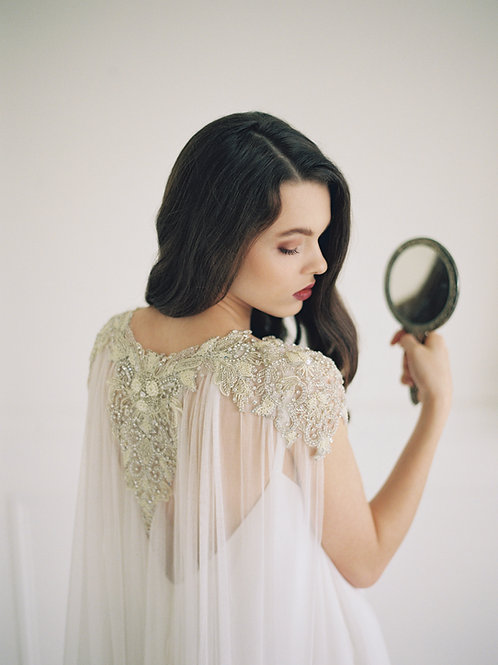 Sample | LAKSHMI | Couture silk pearl cape