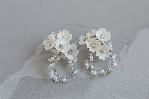 FROU | Frilled Floral Earrings