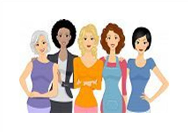 graphic that represents women of all nationalities and races