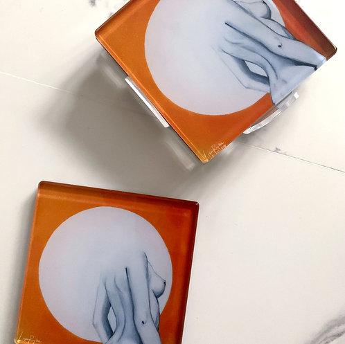 Orange Femme Coasters