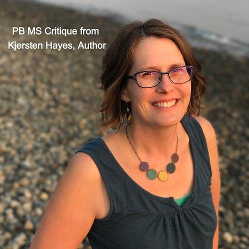 PB MS Critique from Kjersten Hayes, Author