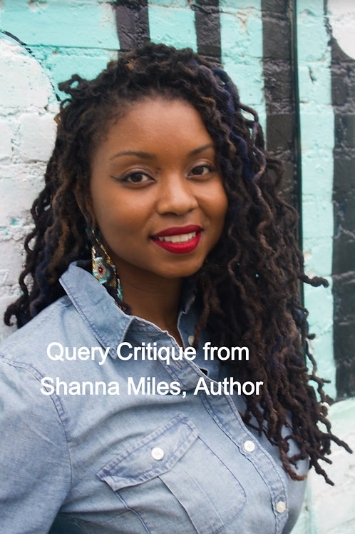 Query Critique from Shanna Miles, Author