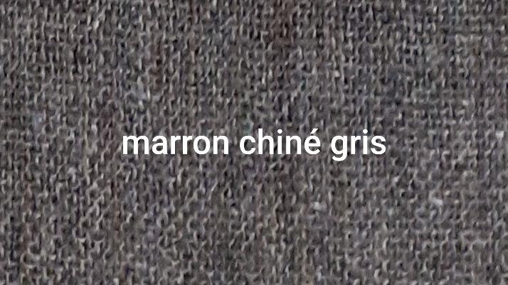 Marron chiné gris  XL 120x230 CM