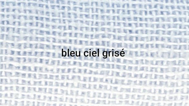Bleu claire grisé 90x200 CM