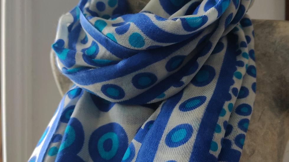 Ronds bleu 90x200 CM