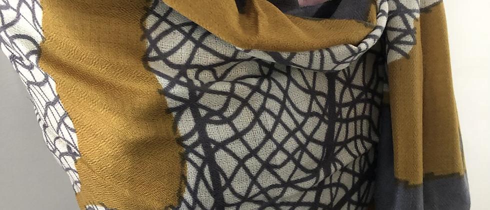 Feuille gris moutardeINDE XL