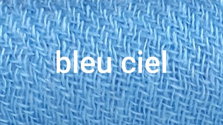 Bleu ciel uni XL 120x230 CM