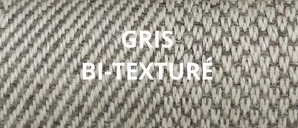 Plaid gris bi-texturé