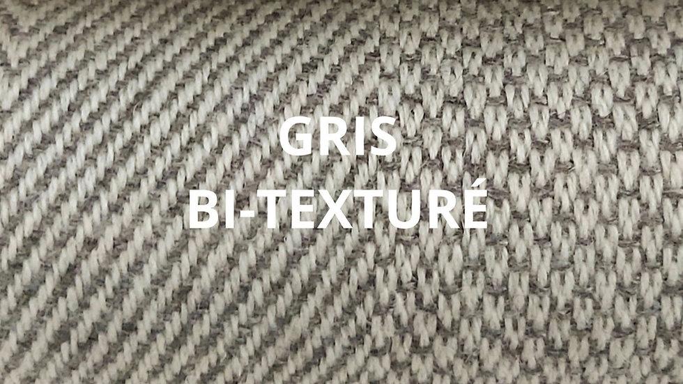 Plaid gris bi-texturé 130x250 CM
