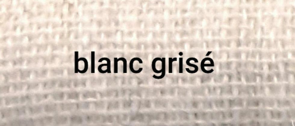 Étole blanche grisée chinée