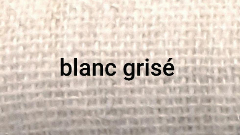 Blanc grisé chiné 90x200 CM