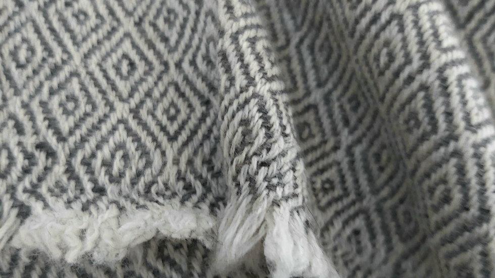 Plaid gris losange 130x250 CM