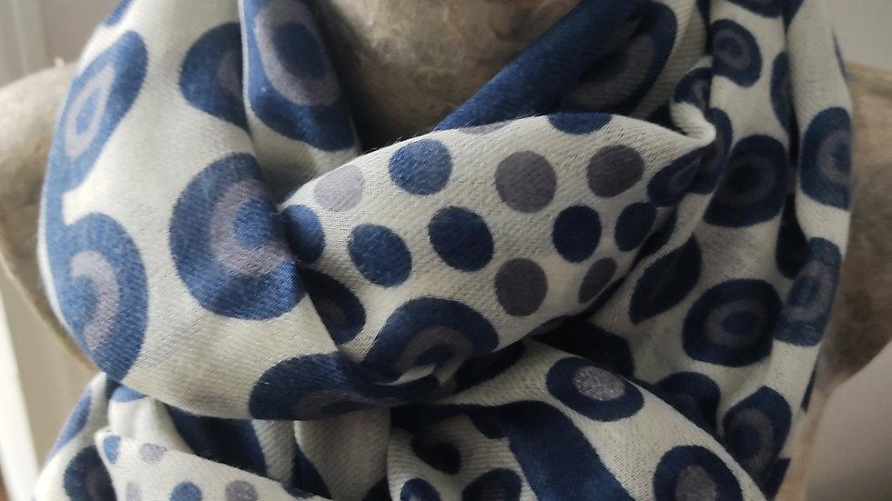 Ronds bleu marine 90x200 CM