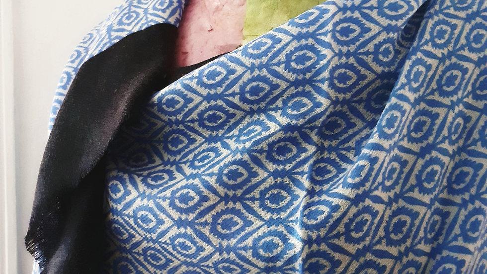 Bleu roi à imprimé géométrique 90x200 CM