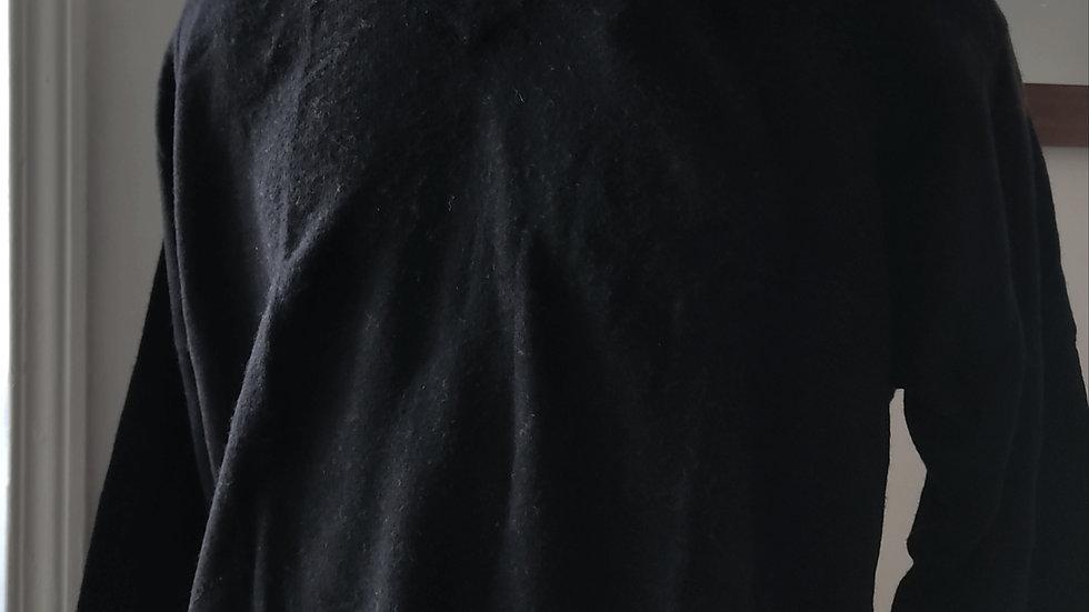 Pull noir unisexe